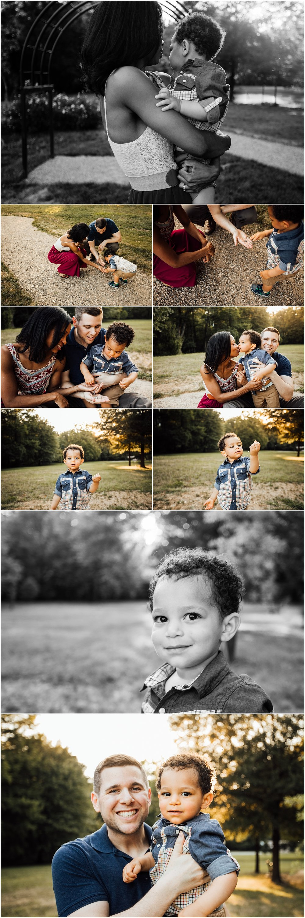 Lifestyle family session in gardens by Madison Alabama family photographer Rachel K Photo