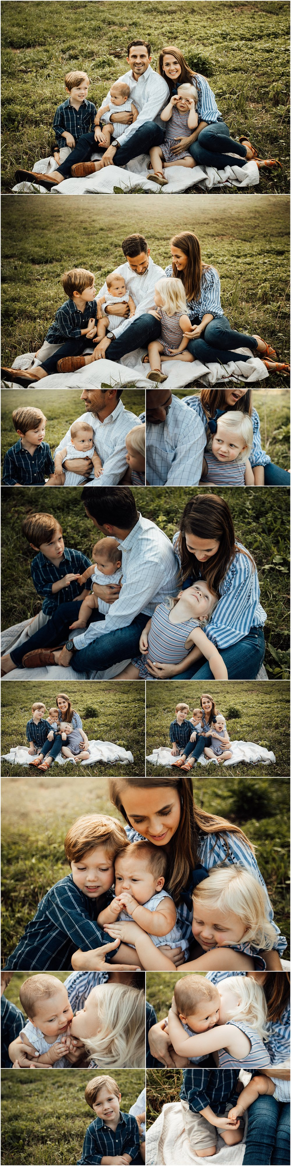 Madison Alabama family of 5 outdoor farm session by Rachel K Photo