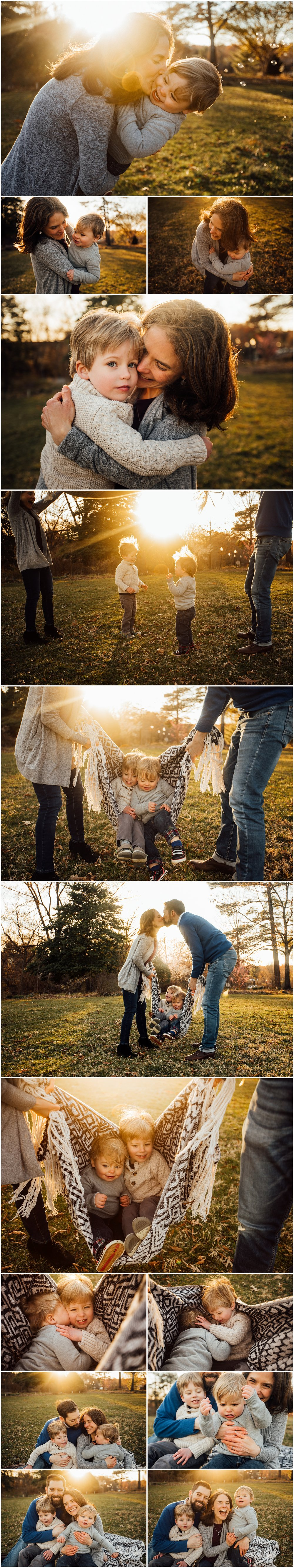 Sunlit family session with bubbles by Huntsville and Madison Alabama family photographer Rachel K Photo