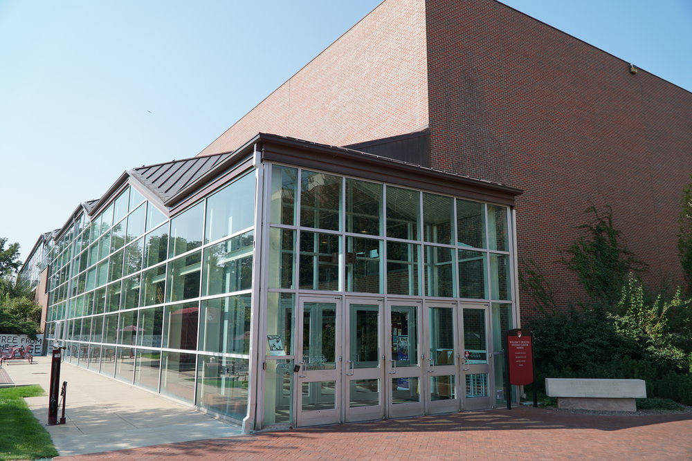 The north entrance to Driscoll Student Center North.