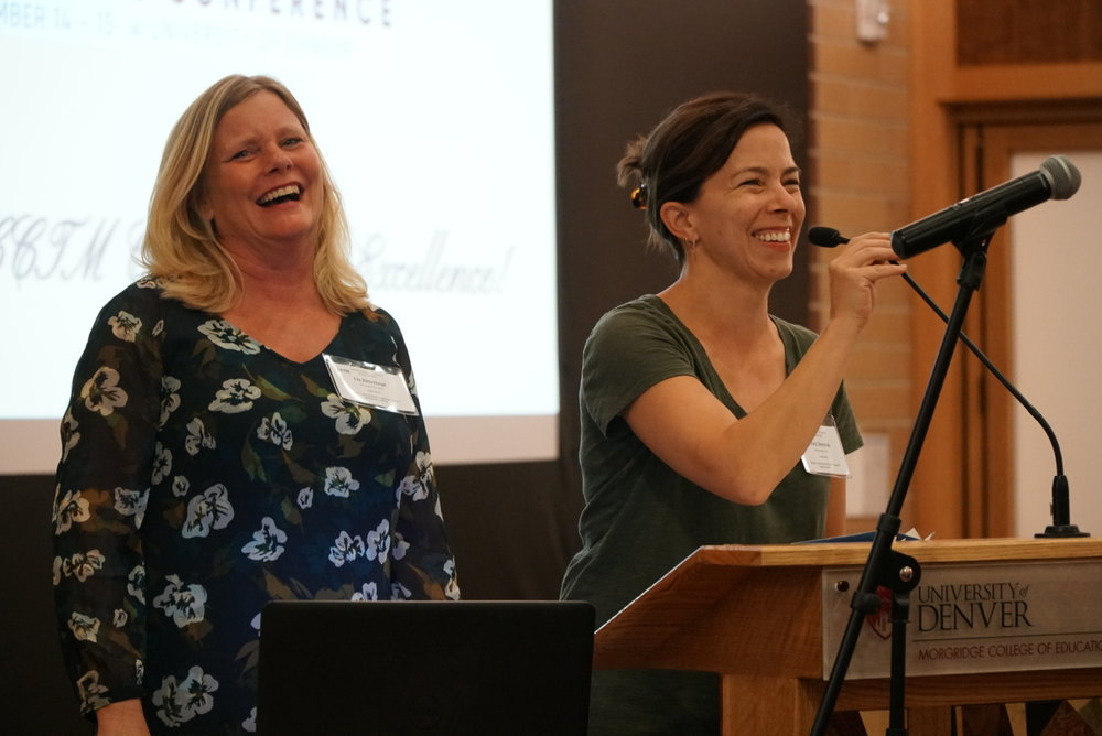 Conference Co-Chairs Liz Zitterkopf and Tracy Seremak thank all the volunteers who helped with the conference.