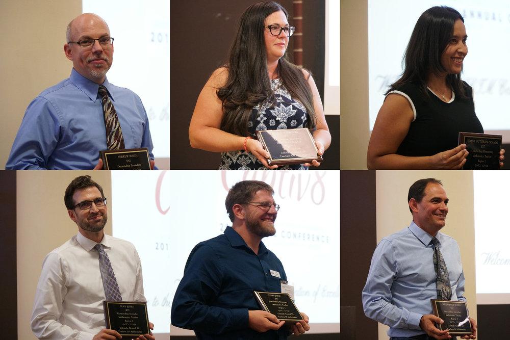 2017 CCTM Mathematics Teaching Award Receipients