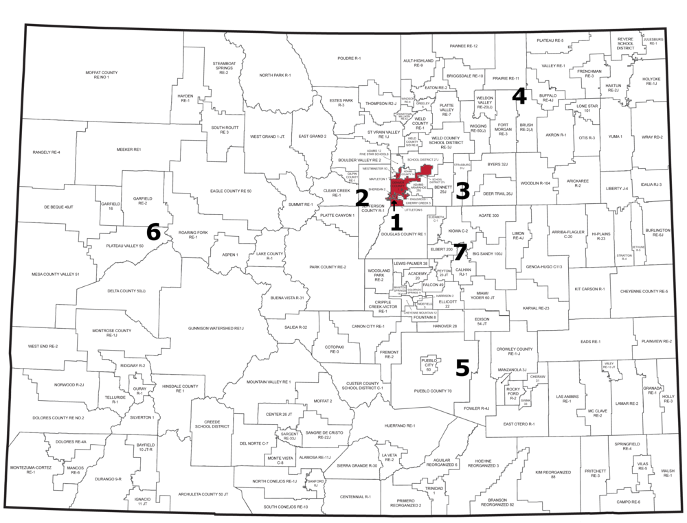 Region 1: Denver, Littleton, Sheridan, Englewood and Mapleton Public Schools