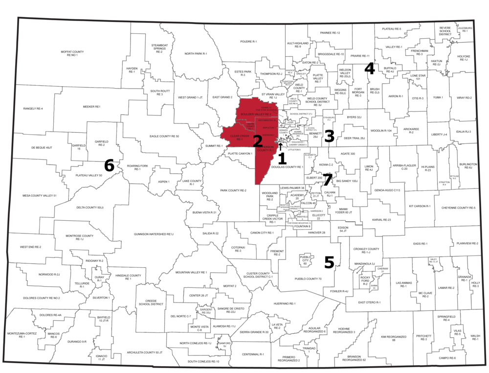 Region 2: Boulder Valley, Jefferson County, Gilpin, and Clear Creek School Districts