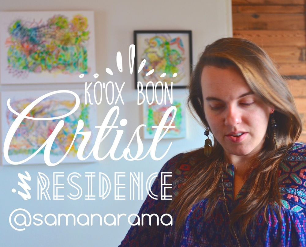 Samantha Ledbetter served as Curator for the KB Fine Art Auction in December, 2014. She will spend her summer teaching advanced art & bookmaking to rural Mayan youth as a part of Camp Ko'ox. She will also pursue her own creative work.