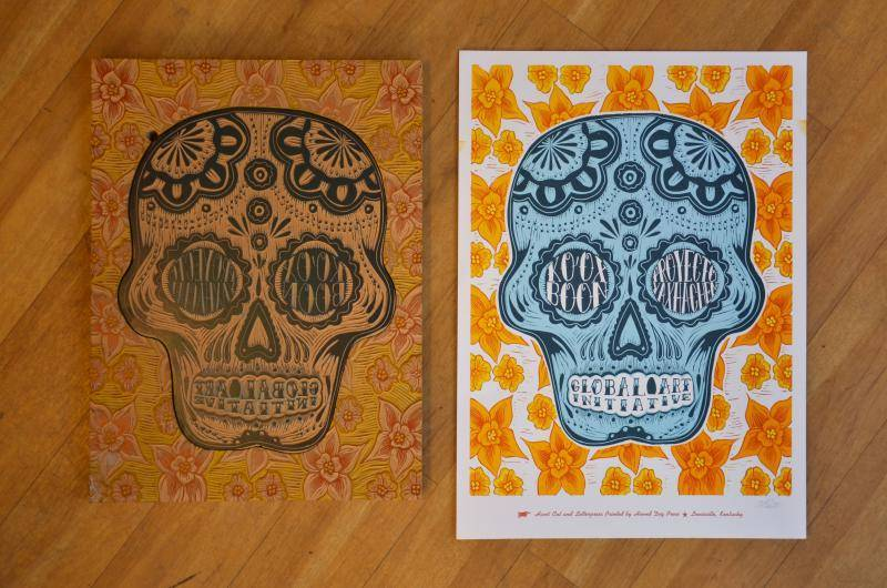 For Ko'ox Boon's first fundraiser, we sold these hand-carved woodblock prints made by Hound Dog Press in Louisville, KY. With only 100 printed, these are now vintage :)