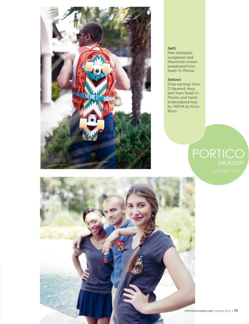 YAXHA Bordados featured in Portico JACKSON magazine, August 2015
