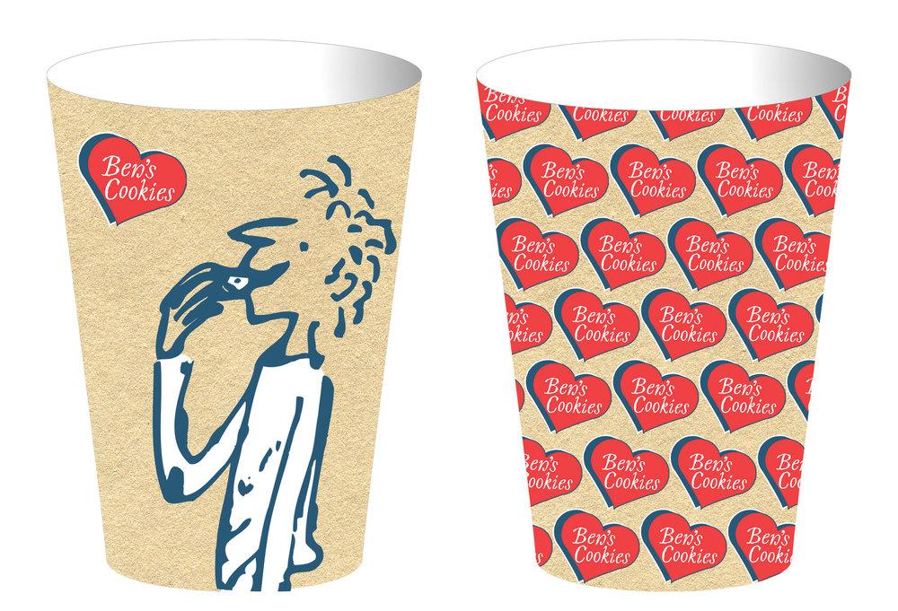 BEN'S COOKIES CUPS REBRAND