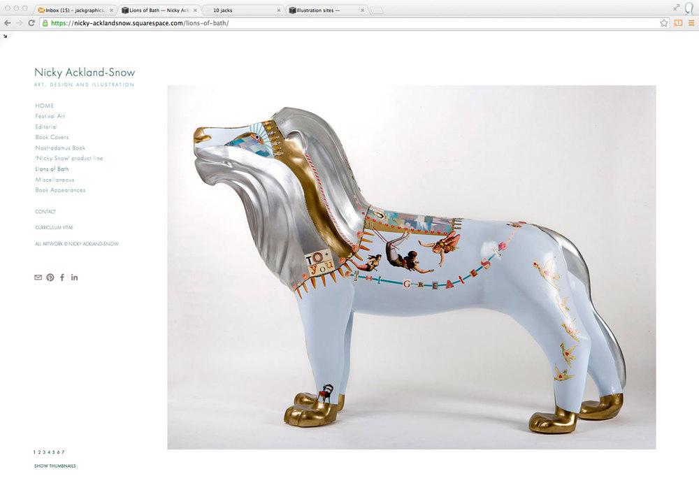 artist decoration for Bath Lions
