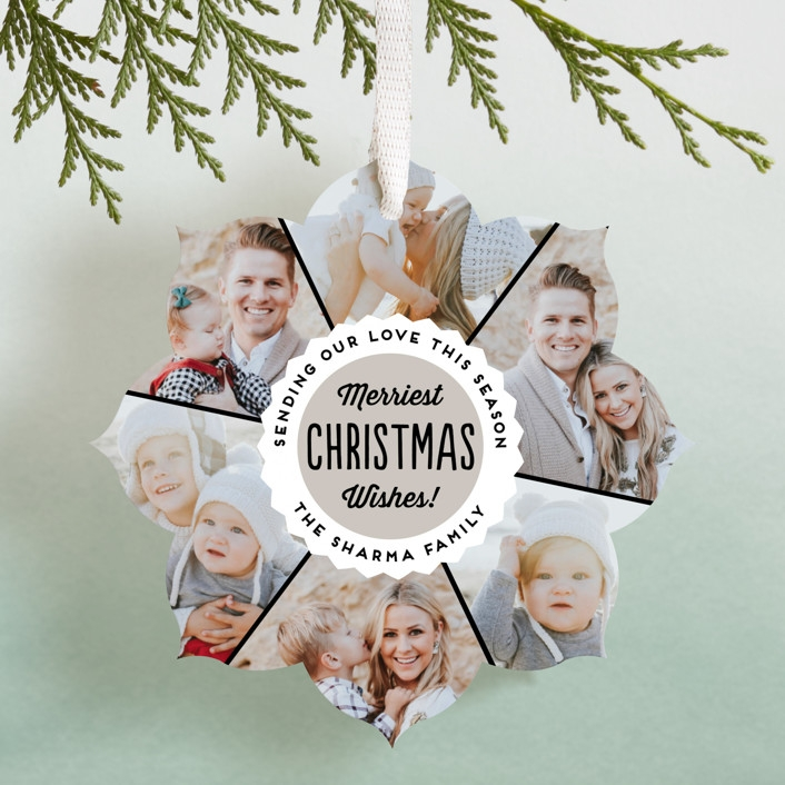 bottle cap ornament card