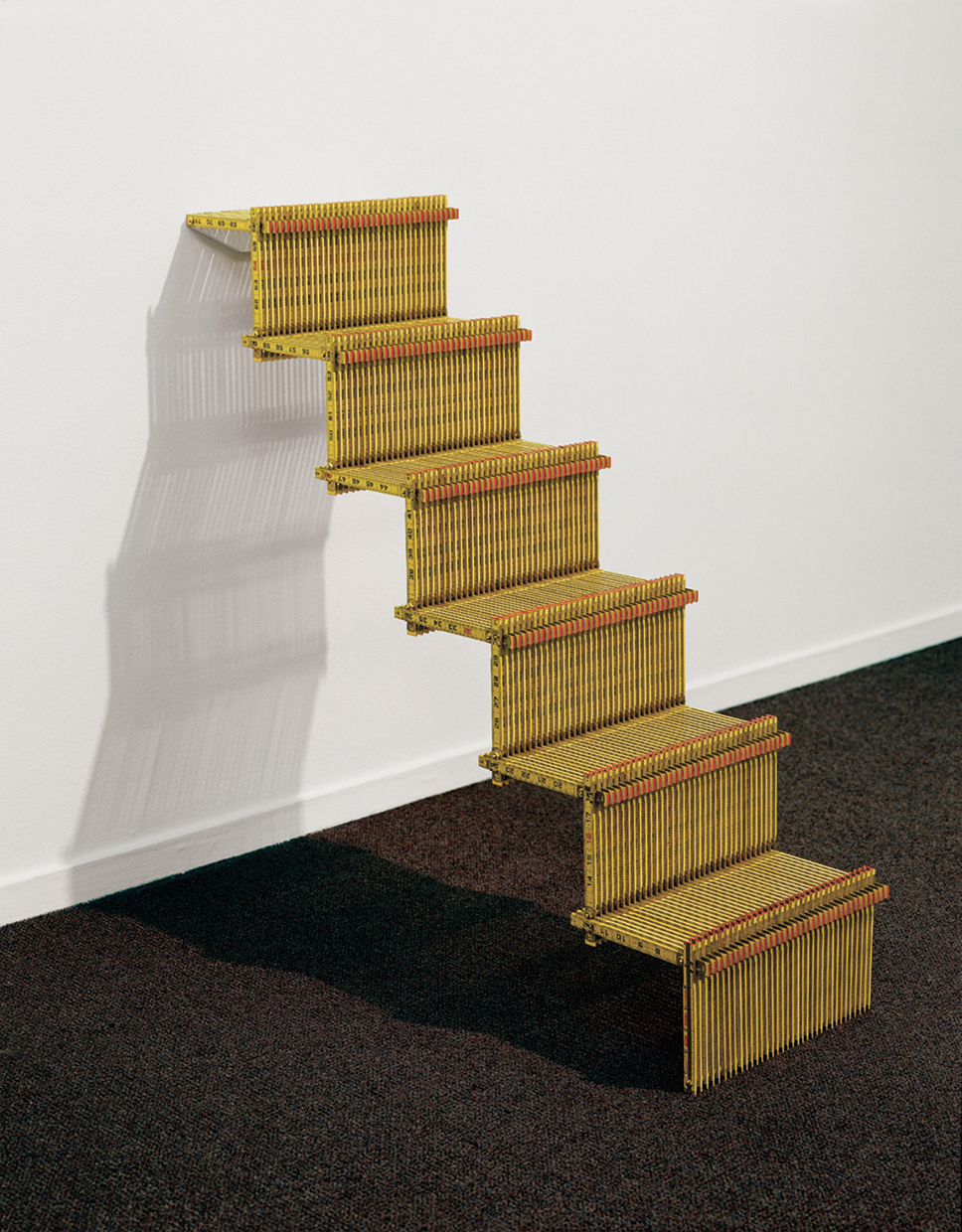 Measured Steps by Victoria Fuller Folding rulers - 36'' x 36'' x 13''  (2001)