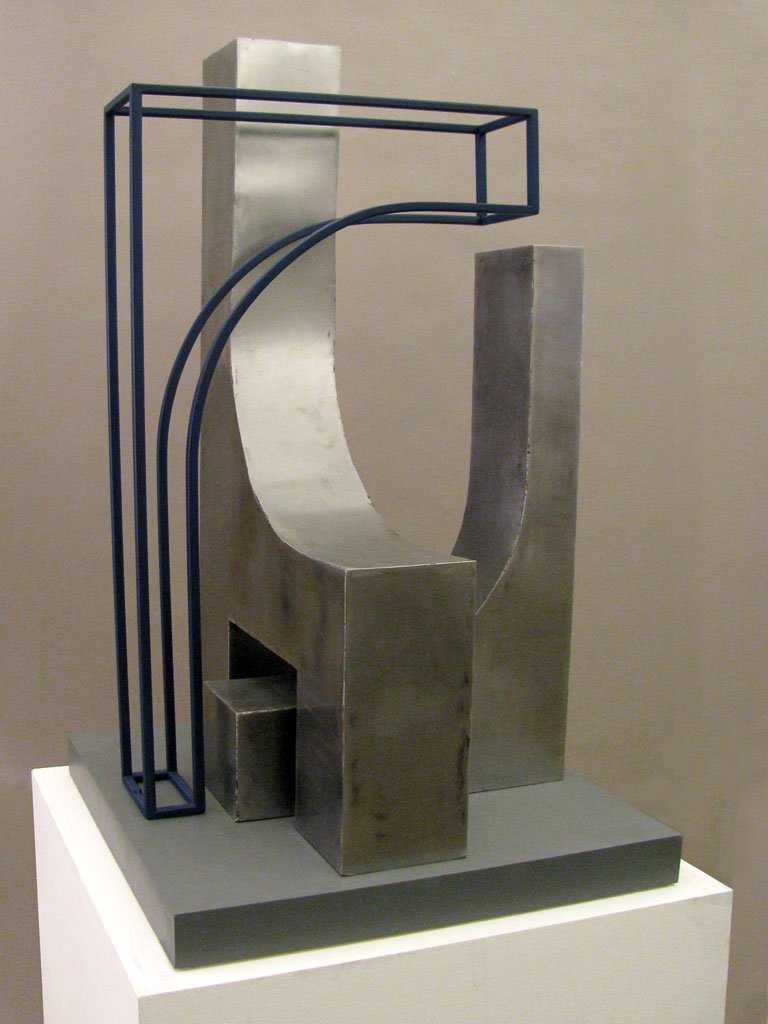Construction #1  by Victor Nelson    Fabricated steel - 26'' x 25'' x 45''  (2013)