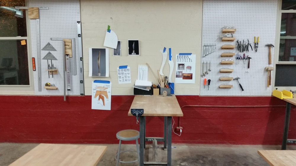 Woodshop walls