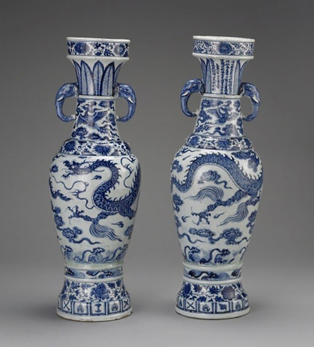 The David Vases once belonged to Sir Percival David, who collected over 1500 pieces of Chinese ceramics