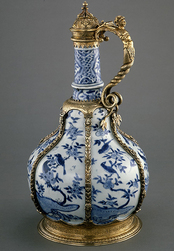 Ewer, 16th century, made in China (porcelain); made in London, England (silver-gilt), The Metropolitan Museum of Art, New York