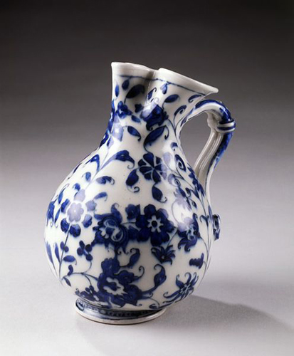 "Ewer, 1575-1587(made), a soft paste ""Medici porcelain"""