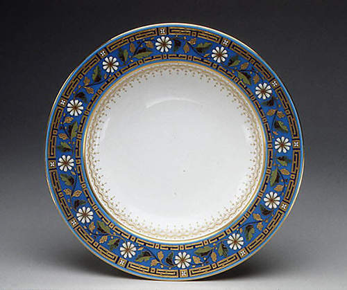 Soup plate, 1880, bone china