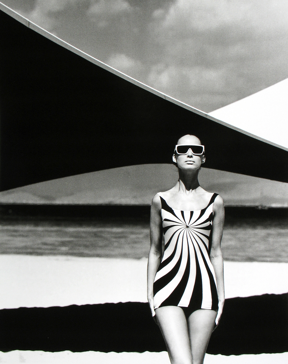 Op Art Swimsuit, Brigitte Bauer for Sinz, Vouliagmeni, Greece, 1966, F.C. Gundlach