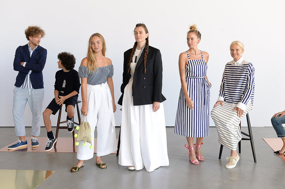 "A few of the ""real"" life models who graced the J.Crew runway in a unique presentation that is unusual to a classic runway show."