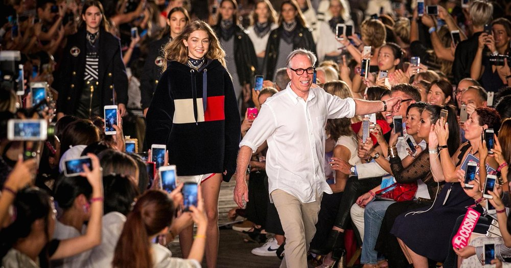 Tommy Hilgiger and Gigi Hadid take one final bow after launching the TommyXGigi collection.