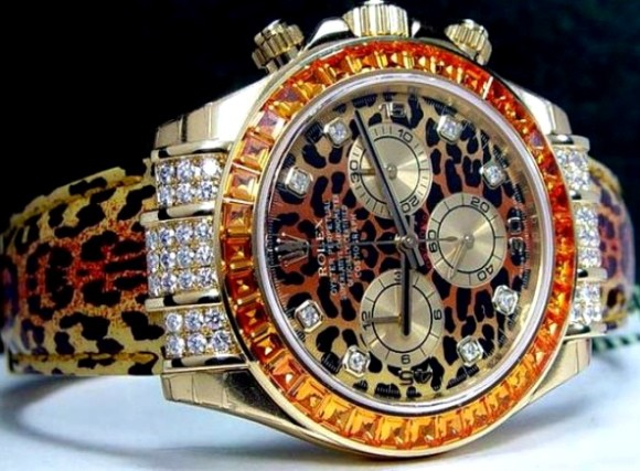 A Rolex that is totally overdoing it.