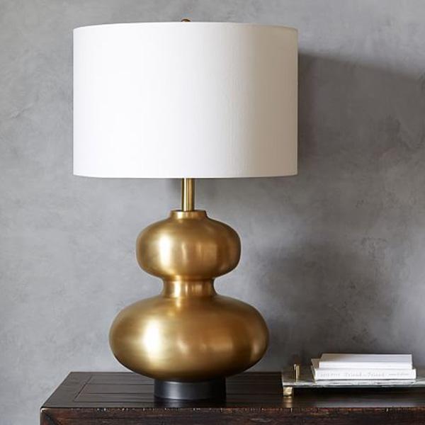 POTTERY BARN ISLA CURVY BRASS LAMP
