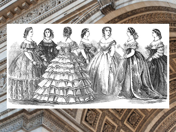1850s fashion sketches