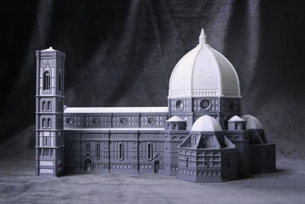 피렌체 두오모 성당 크기  40x25x26cm / B830에서 듀얼 노즐로 한번에 출력