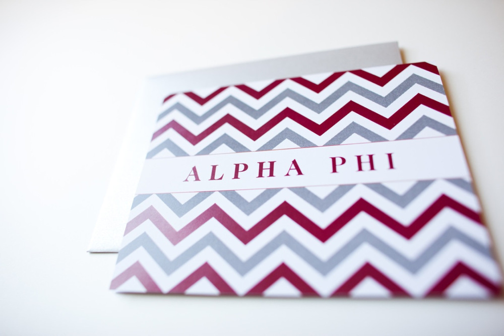 Custom Sorority Notecards
