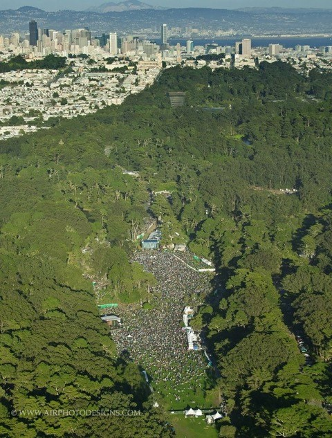 Aerial Shot of Hardly Strictly Bluegrass