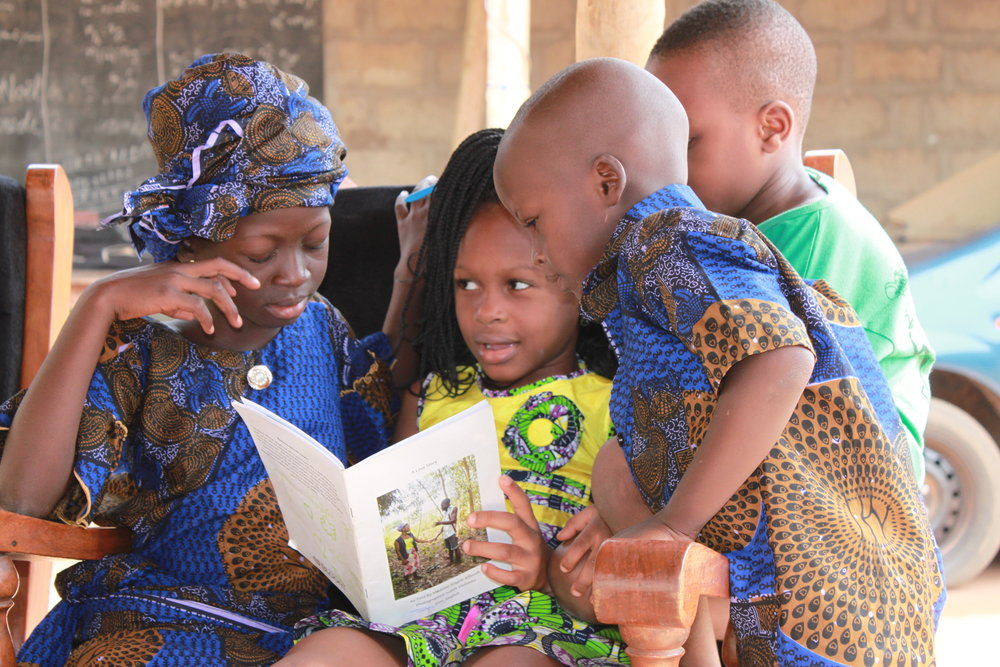 Your purchase helps us to fund programs such as Books that Bind, creating books in local languages in Benin.