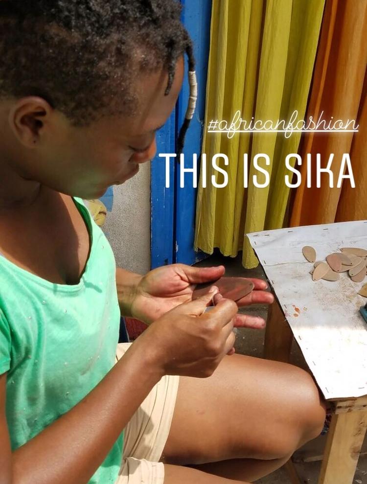 Sika in her Cotonou atelier (workshop).