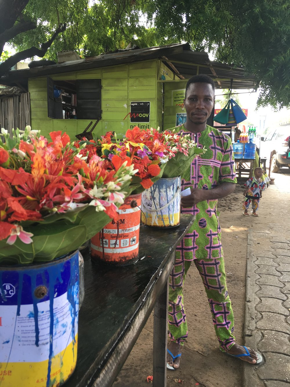 Gorgeous flowers for sale in Haie Vive, Cotonou.