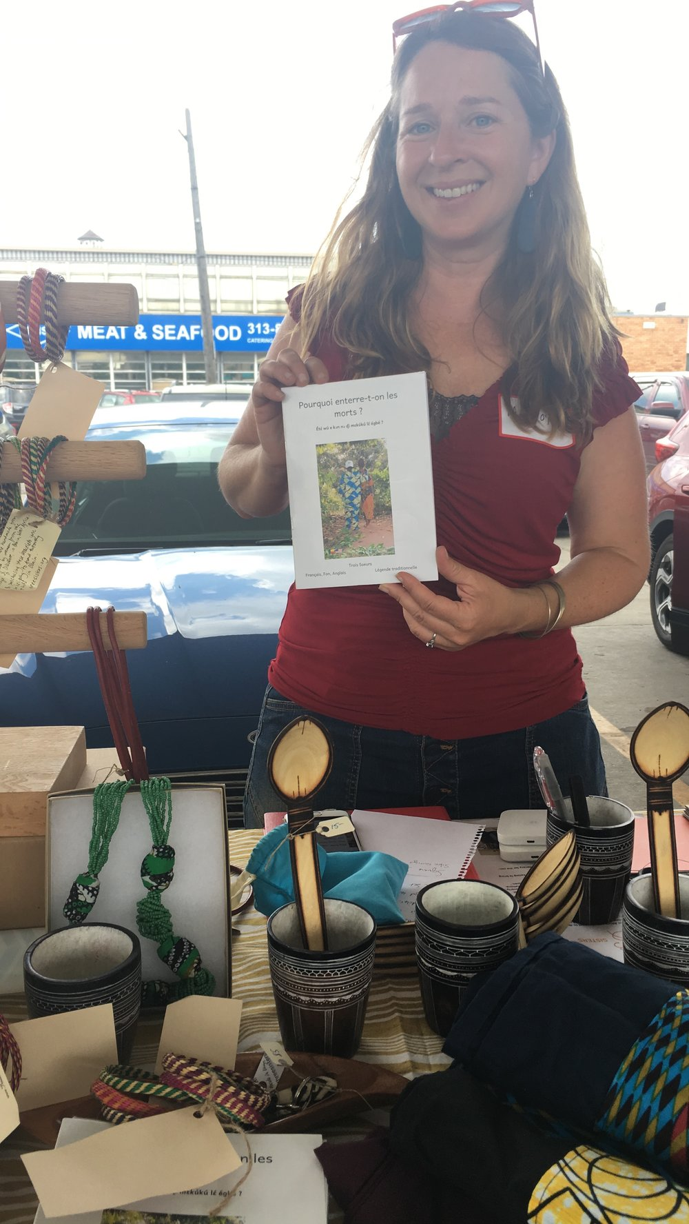Marcy at the Detroit Festival of Books in the Eastern Market. Photo credit: Sarah Sparkman