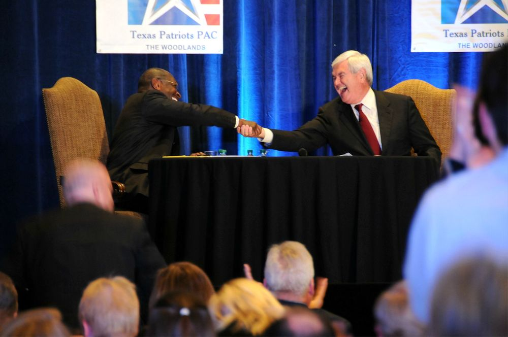 The Cain-Gingrich debate, November 2011.
