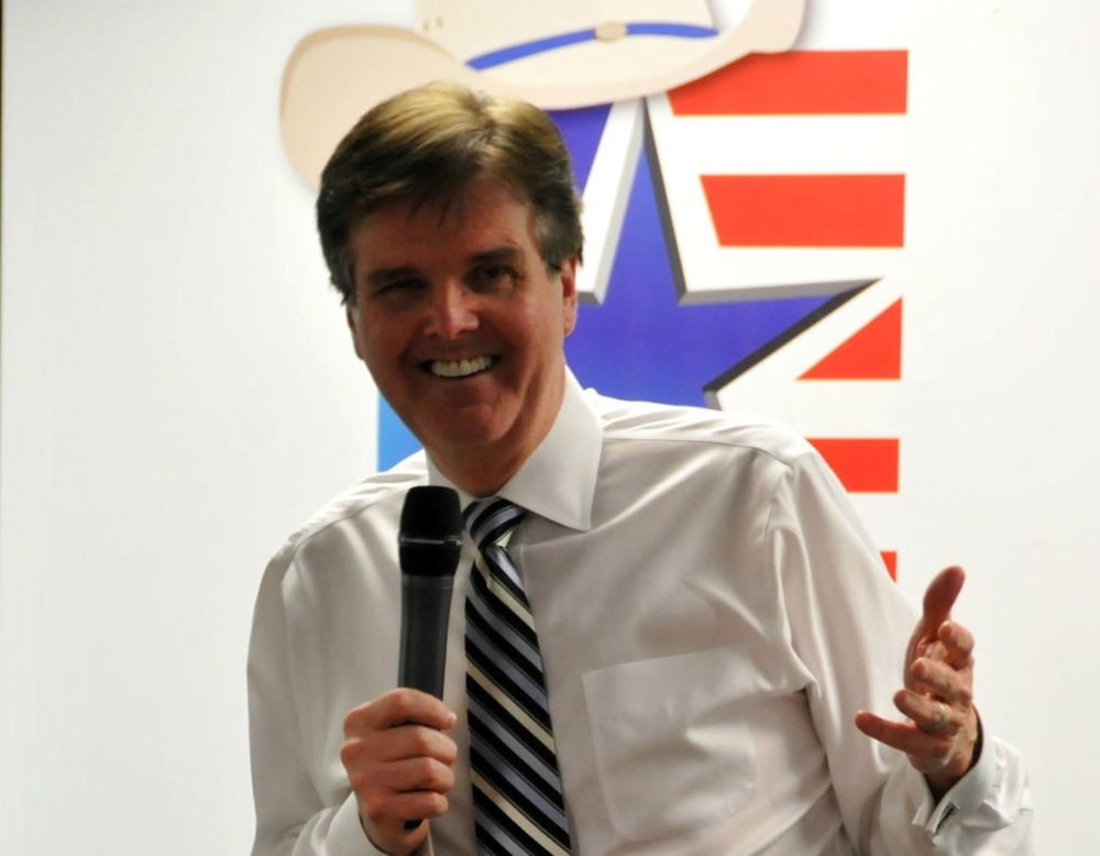 Then-Senator Dan Patrick speaking at one of our open meetings during his campaign to become Lieutenant Governor.