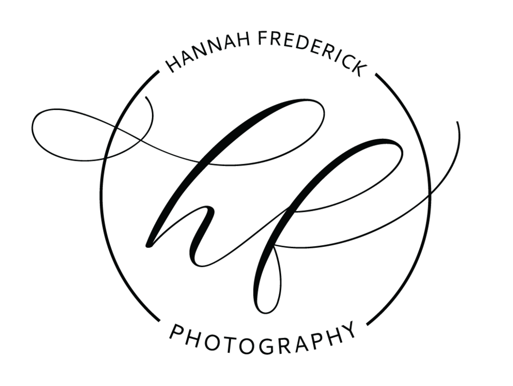 HF Photo - Hannah wanted simple, timeless and elegant to update from her current logo. With a thin and elegant script, and a circle to tie it all in together, we created a beautiful graphic for her print materials, website, and watermark.
