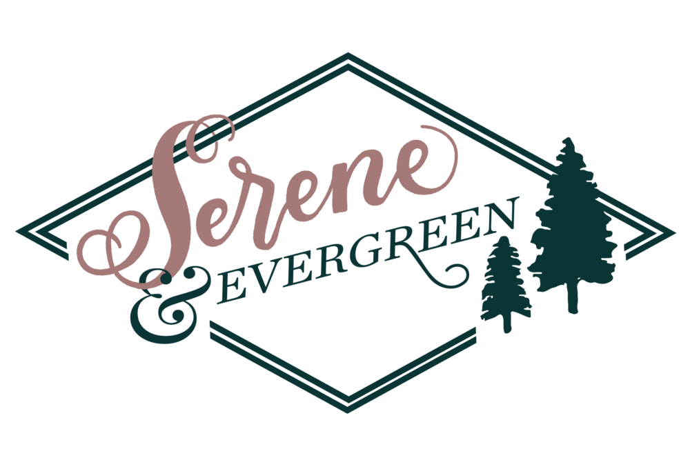 Serene & Evergreen - A transition from an old logo to a new, refreshed name and presence.