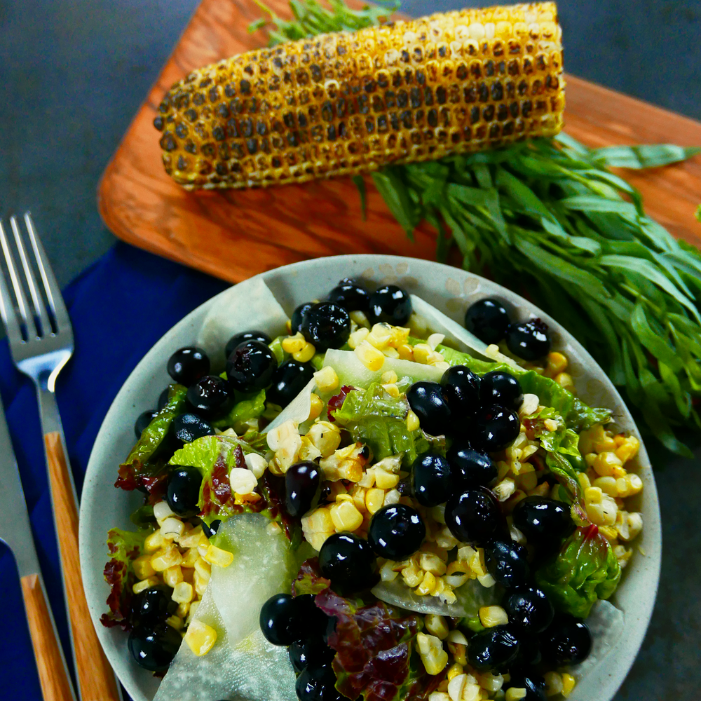 Blueberry & Grilled Corn Salad