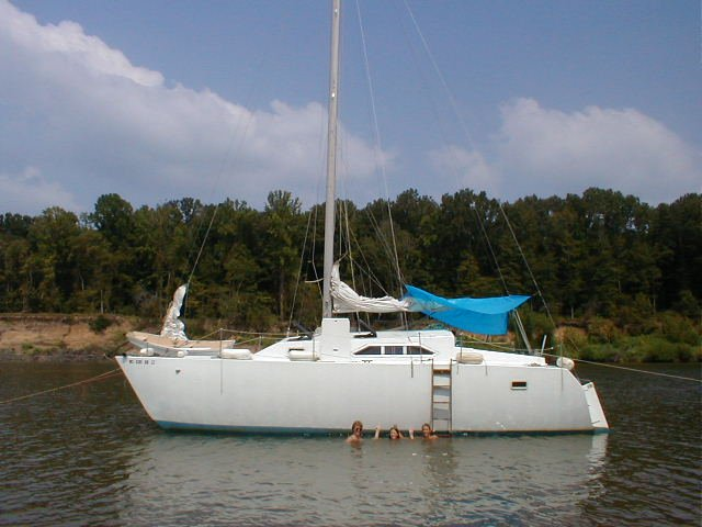 34' x 19' Homebuilt wooden catamaran
