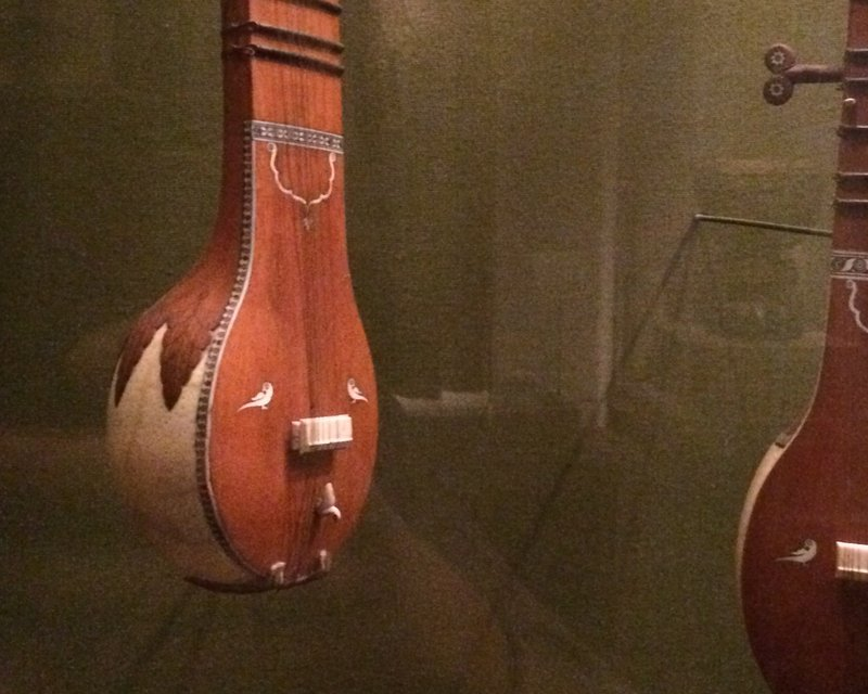 I saw some amazing instruments at the Met! Check out this sitar made from an ostrich egg!