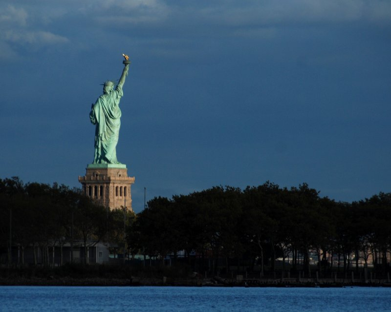 We had a great view of the Statue of Liberty from our anchorage.
