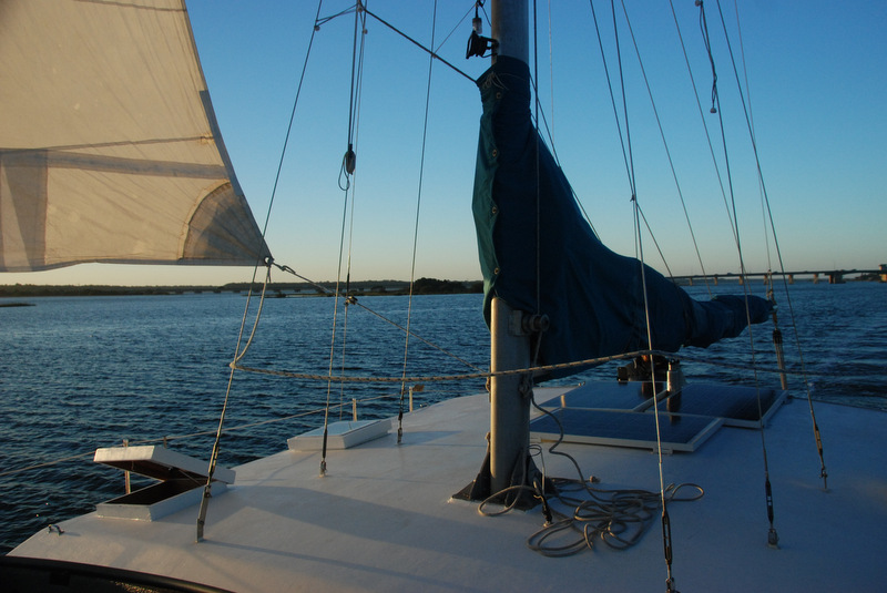 A gorgeous sunset ushered us into our anchorage south of St. Augustine.