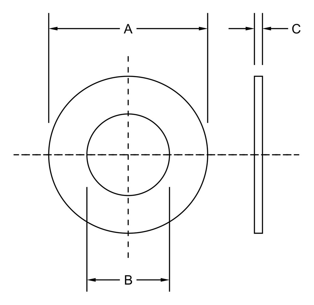 F436 washer dimensions