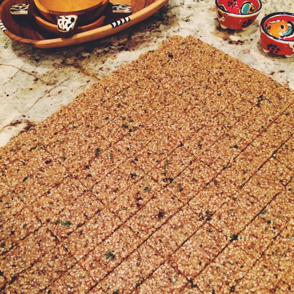 Buckwheat, Crispy Shallot, Thyme Crackers