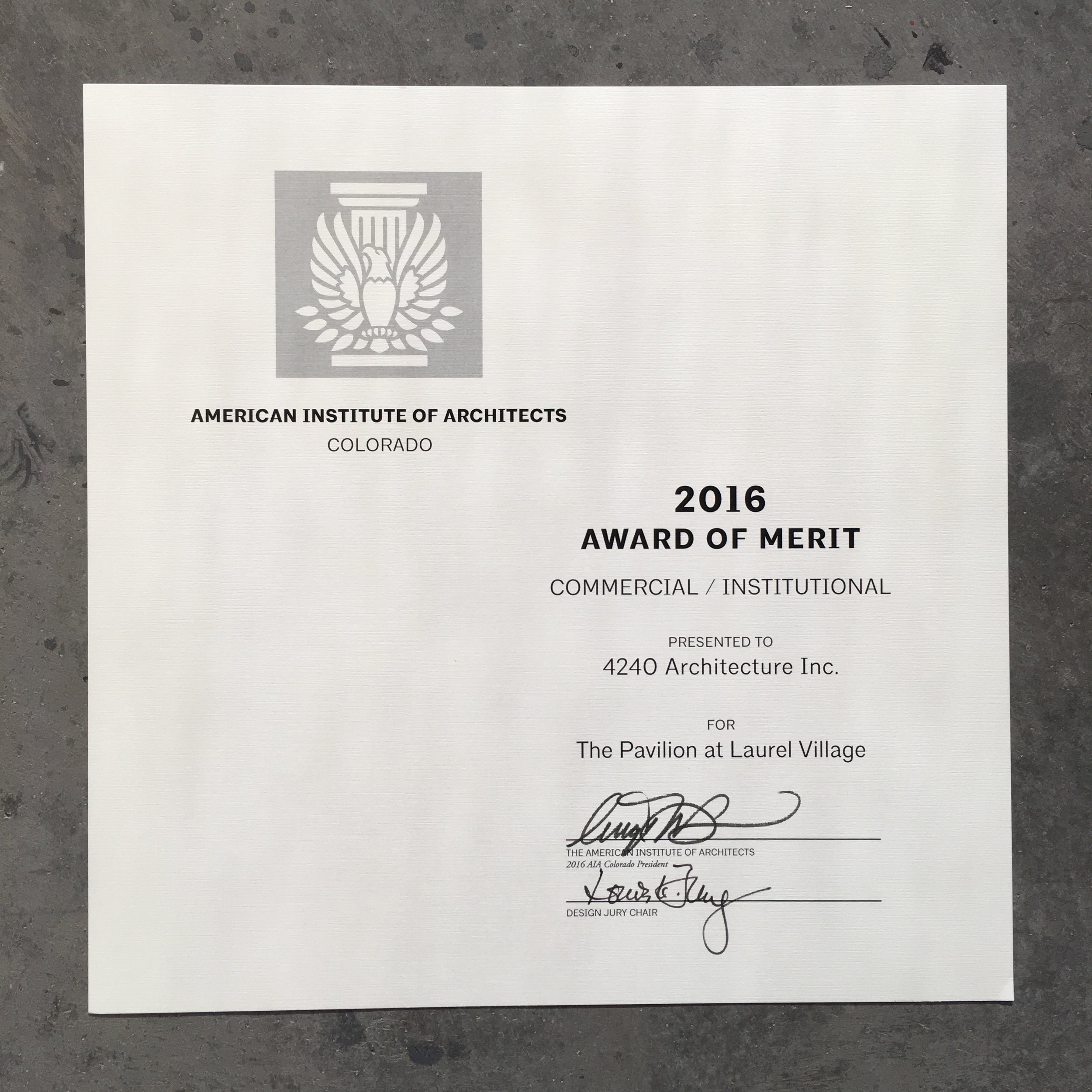 4240 Now Architecture 7 Days Slim Platinum Original 100 Aia Colorado Honors The Pavilion At P Dc 2016