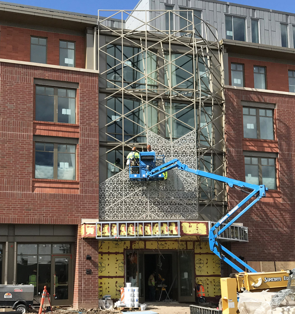 The Elizabeth Hotel Fort Collins_Screen Installation