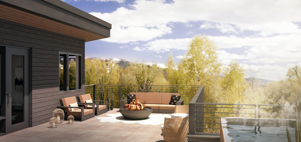 Steamboat Riverview Deck