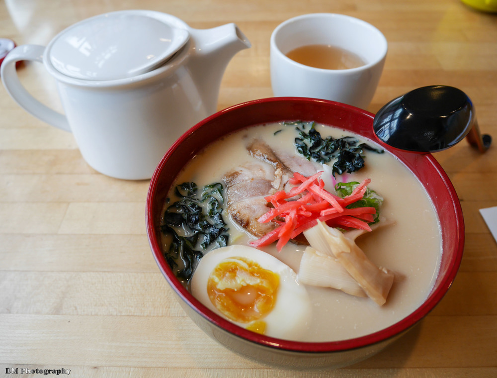 Tonkotsu Ramen and Iron Goddess of Mercy Tea