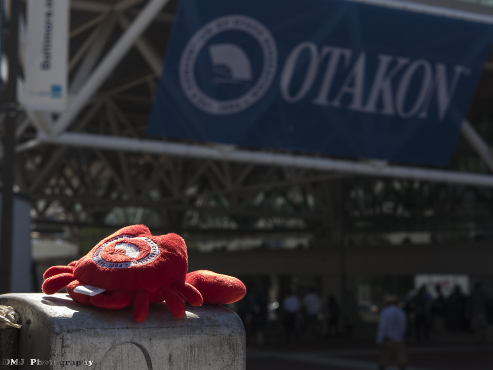 Crabby-chan looking forlorn towards the final Otakon in Baltimore